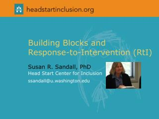 Building Blocks and  Response-to-Intervention (RtI)