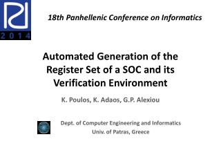 Automated Generation of the  Register Set of a SOC and its Verification Environment