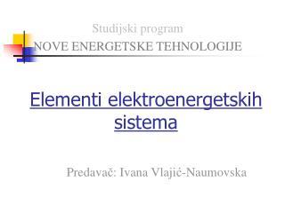 Elementi elektroenergetskih sistema