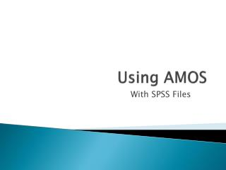 Using AMOS