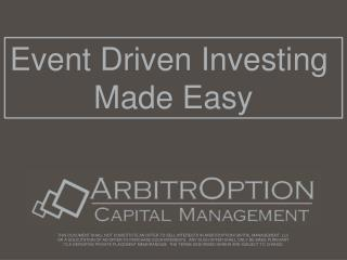Event Driven Investing  Made Easy