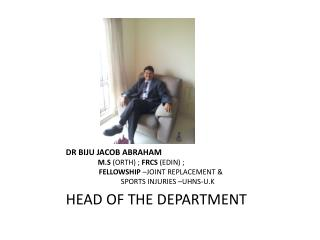 HEAD OF THE DEPARTMENT