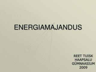 ENERGIAMAJANDUS
