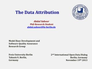 The Data  Attribution