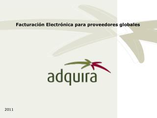 Facturación Electrónica para proveedores globales