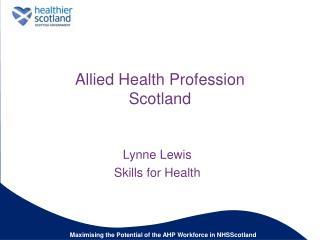 Allied Health Profession Scotland