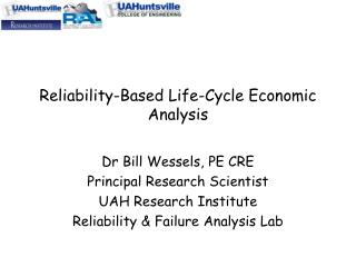 Reliability-Based Life-Cycle Economic Analysis