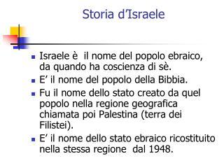 Storia d�Israele