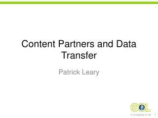 Content Partners and Data Transfer