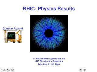 RHIC: Physics Results