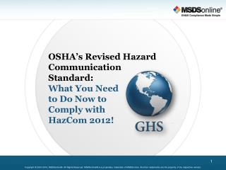 OSHA's Revised Hazard Communication Standard: