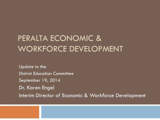 Peralta Economic & Workforce Development