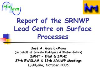 Report of the SRNWP Lead Centre on Surface Processes