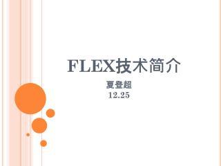 FLEX 技术简介