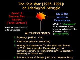 The Cold War [1945-1991]:   An Ideological Struggle