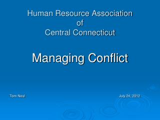 Human Resource Association of Central Connecticut