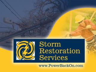 Ready to mobilize and manage the manpower needed to help you get the Power Back On!