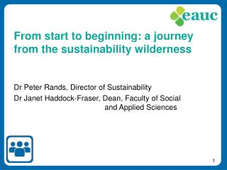 From start to beginning: a journey from the sustainability wilderness