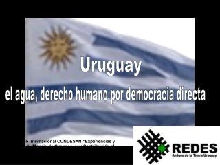 el agua, derecho humano por democracia directa