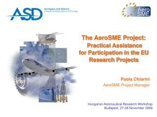 The AeroSME Project: Practical Assistance for Participation in the EU Research Projects