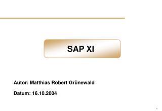 SAP XI