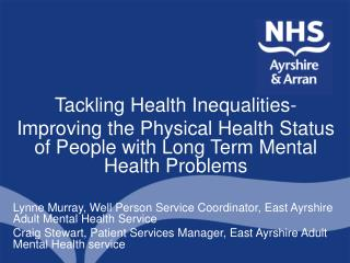 Tackling Health Inequalities-