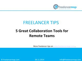 5 Great Collaboration Tools for Remote Teams