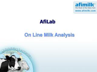 On Line Milk Analysis