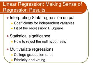 Linear Regression: Making Sense of Regression Results