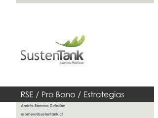 RSE / Pro Bono / Estrategias