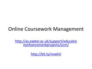 Online Coursework Management