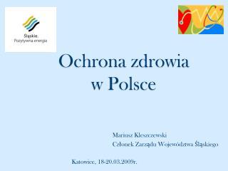 Ochrona zdrowia  w Polsce