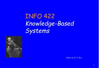 SIMS 422 Knowledge Inference Systems  Applications
