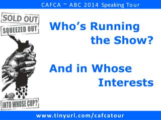 CAFCA ~ ABC 2014  Speaking  Tour