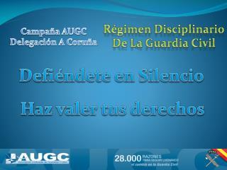 R�gimen Disciplinario De La Guardia Civil