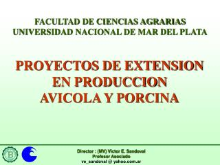 FACULTAD DE CIENCIAS AGRARIAS UNIVERSIDAD NACIONAL DE MAR DEL PLATA