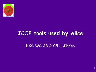 JCOP tools used by Alice