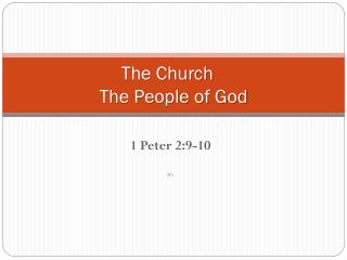 The Church 			 The People of God