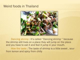 Weird foods in Thailand