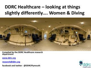 DDRC Healthcare – looking at things slightly differently…. Women & Diving