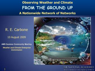 AMS Summer Community Meeting Weather and Climate Enterprise Commission