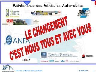 Maintenance des  Véhicules  Automobiles
