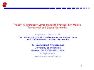 TraSH: A Transport Layer Handoff Protocol for Mobile Terrestrial and Space Networks