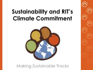 Sustainability and RIT � s Climate Commitment
