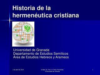 Historia de la hermen utica cristiana