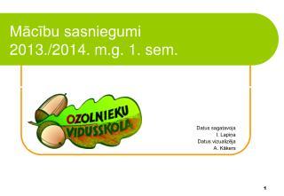 Mācību sasniegumi 2013./2014. m.g. 1. sem.