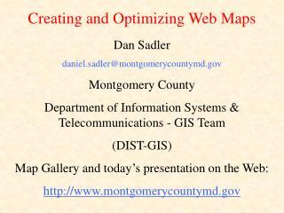 Dan Sadler daniel.sadler@montgomerycountymd Montgomery County