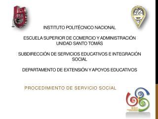 PROCEDIMIENTO DE SERVICIO SOCIAL