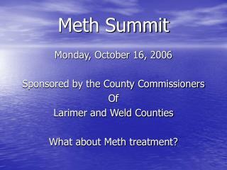 Meth Summit