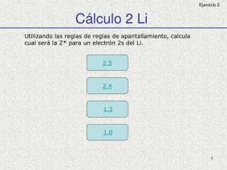 Cálculo 2 Li